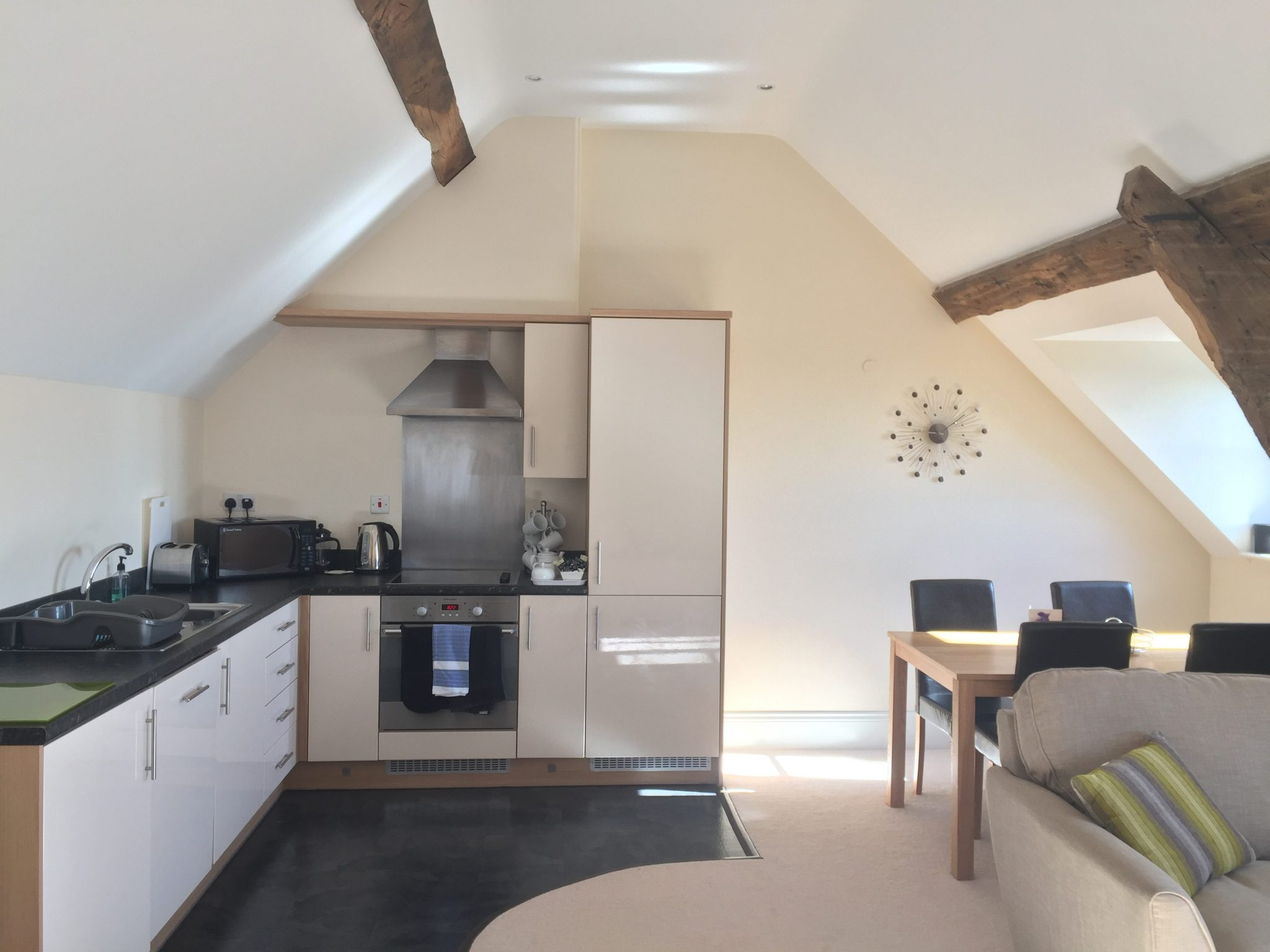 Kitchen lighting, self catering holywell suite